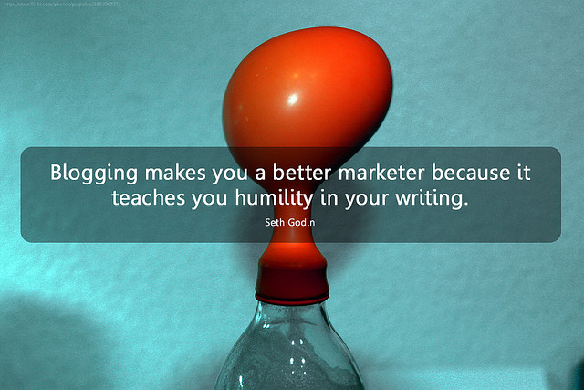 Blogging quote Seth Godin marketing blog