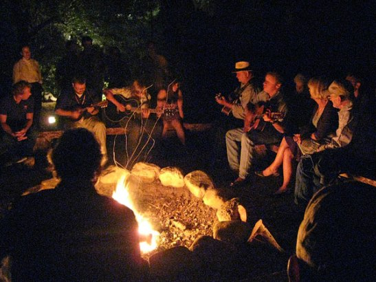 Community Campfire Memories by Charles Muench